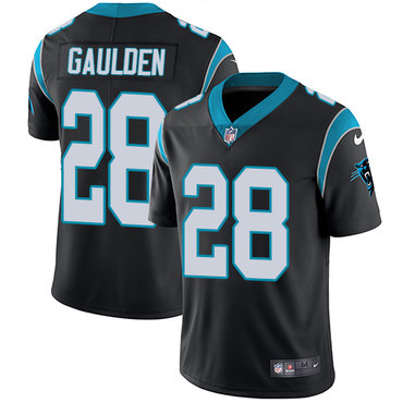 Nike Panthers #28 Rashaan Gaulden Black Team Color Men's Stitched NFL Vapor Untouchable Limited Jersey