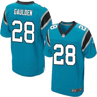 Nike Panthers #28 Rashaan Gaulden Blue Alternate Men's Stitched NFL Elite Jersey
