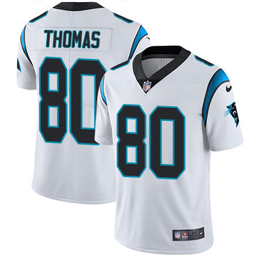 Nike Panthers #80 Ian Thomas White Men's Stitched NFL Vapor Untouchable Limited Jersey