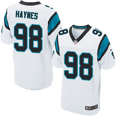 Nike Panthers #98 Marquis Haynes White Men's Stitched NFL Elite Jersey