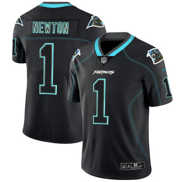 Nike Panthers 1 Cam Newton Black Shadow Legend Limited Jersey