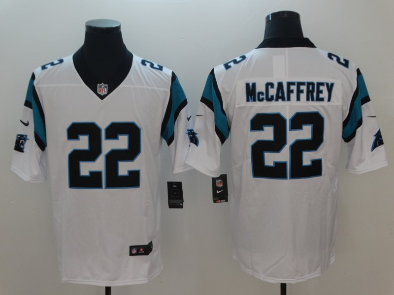Nike Panthers 22 Christian McCaffrey White Vapor Untouchable Player Limited Jersey