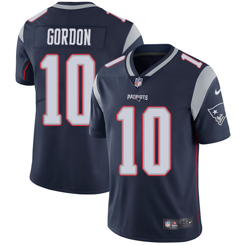 Nike Patriots #10 Josh Gordon Navy Blue Team Color Men's Stitched NFL Vapor Untouchable Limited Jersey