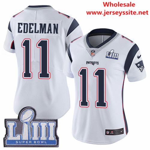 Nike Patriots #11 Julian Edelman White Super Bowl LIII Bound Women's Stitched NFL Vapor Untouchable Limited Jersey