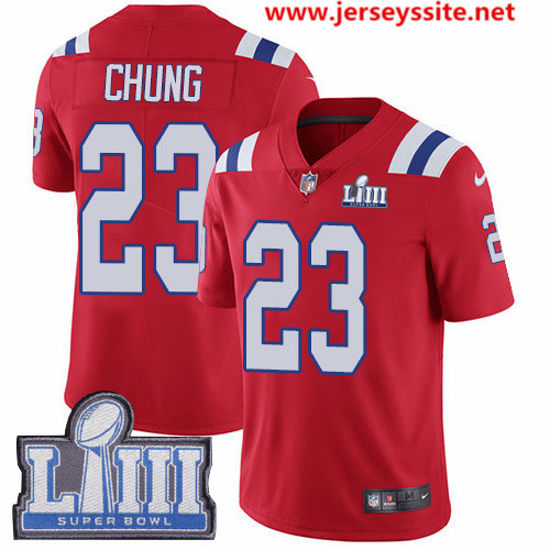Nike Patriots #23 Patrick Chung Red Alternate Super Bowl LIII Bound Men's Stitched NFL Vapor Untouchable Limited Jersey