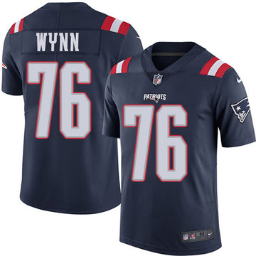Nike Patriots #76 Isaiah Wynn Navy Blue Men's Stitched NFL Limited Rush Jersey