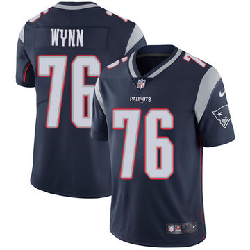 Nike Patriots #76 Isaiah Wynn Navy Blue Team Color Men's Stitched NFL Vapor Untouchable Limited Jersey