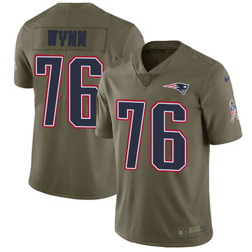 Nike Patriots #76 Isaiah Wynn Olive Men's Stitched NFL Limited 2017 Salute To Service Jersey