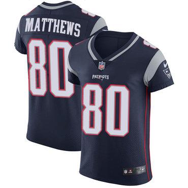Nike Patriots #80 Jordan Matthews Navy Blue Team Color Men's Stitched NFL Vapor Untouchable Elite Jersey