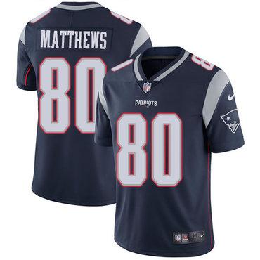 Nike Patriots #80 Jordan Matthews Navy Blue Team Color Men's Stitched NFL Vapor Untouchable Limited Jersey