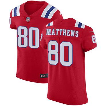 Nike Patriots #80 Jordan Matthews Red Alternate Men's Stitched NFL Vapor Untouchable Elite Jersey