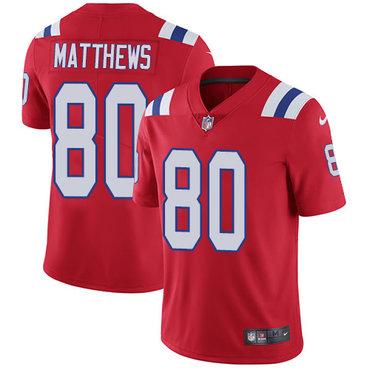 Nike Patriots #80 Jordan Matthews Red Alternate Men's Stitched NFL Vapor Untouchable Limited Jersey