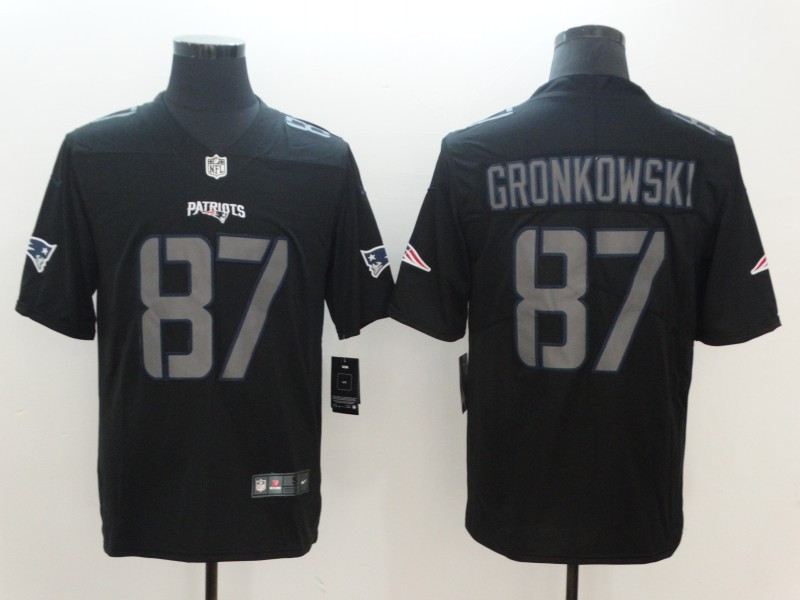 Nike Patriots 87 Rob Gronkowski Black Vapor Impact Limited Jersey