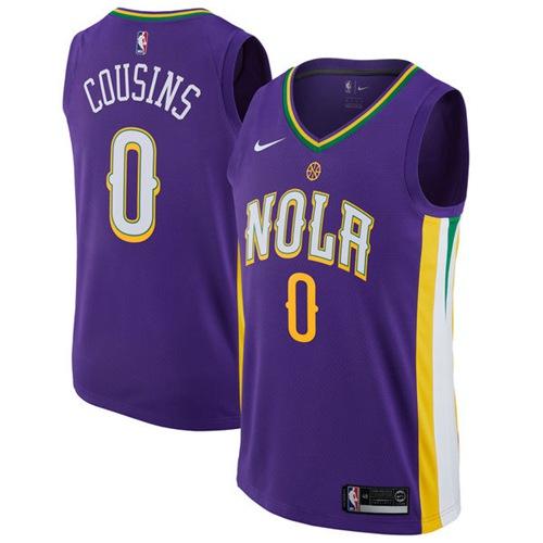 Nike Pelicans #0 DeMarcus Cousins Purple NBA Swingman City Edition Jersey