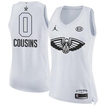 Nike Pelicans #0 DeMarcus Cousins White Women's NBA Jordan Swingman 2018 All-Star Game Jersey