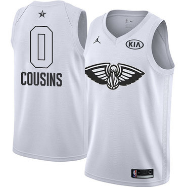 Nike Pelicans #0 DeMarcus Cousins White Youth NBA Jordan Swingman 2018 All-Star Game Jersey