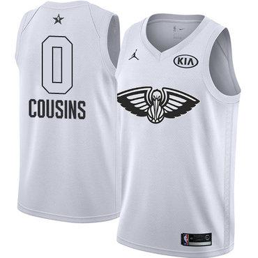 Nike Pelicans #0 DeMarcus Cousins White Youth NBA Jordan Swingman 2018 All-Star Game Jersey