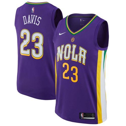 Nike Pelicans #23 Anthony Davis Purple NBA Swingman City Edition Jersey