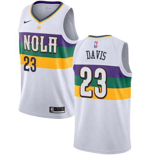Nike Pelicans #23 Anthony Davis White NBA Swingman City Edition 2018 19 Jersey