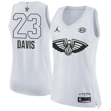 Nike Pelicans #23 Anthony Davis White Women's NBA Jordan Swingman 2018 All-Star Game Jersey