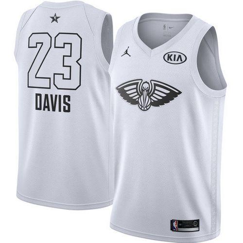 Nike Pelicans #23 Anthony Davis White Youth NBA Jordan Swingman 2018 All-Star Game Jersey