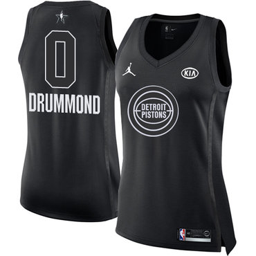 Nike Pistons #0 Andre Drummond Black Women's NBA Jordan Swingman 2018 All-Star Game Jersey