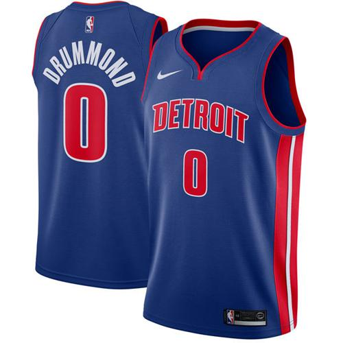 Nike Pistons #0 Andre Drummond Blue NBA Swingman Icon Edition Jersey