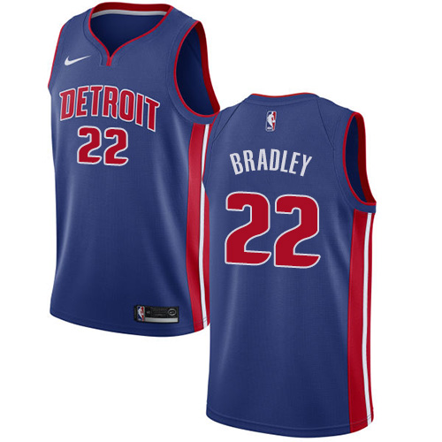 Nike Pistons #22 Avery Bradley Blue NBA Swingman Icon Edition Jersey