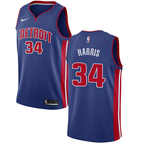 Nike Pistons #34 Tobias Harris Blue NBA Swingman Icon Edition Jersey