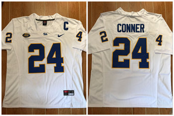 Nike Pitt Panthers #24 James Conner Football White Jersey