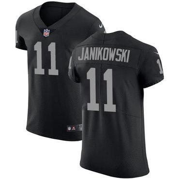 Nike Raiders #11 Sebastian Janikowski Black Team Color Men's Stitched NFL Vapor Untouchable Elite Jersey