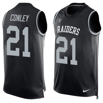 Nike Raiders #21 Gareon Conley Black Team Color Men's Stitched NFL Limited Tank Top Jersey