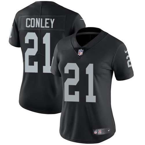 Nike Raiders #21 Gareon Conley Black Team Color Women's Stitched NFL Vapor Untouchable Limited Jersey