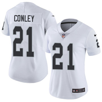 Nike Raiders #21 Gareon Conley White Women's Stitched NFL Vapor Untouchable Limited Jersey