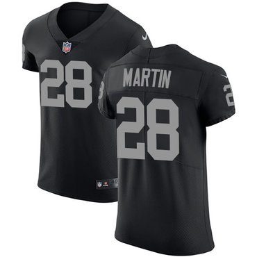 Nike Raiders #28 Doug Martin Black Team Color Men's Stitched NFL Vapor Untouchable Elite Jersey