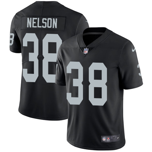 Nike Raiders #38 Nick Nelson Black Team Color Men's Stitched NFL Vapor Untouchable Limited Jersey