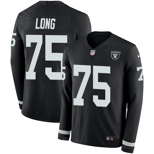 Nike Raiders #75 Howie Long Black Team Color Men's Stitched NFL Limited Therma Long Sleeve Jersey