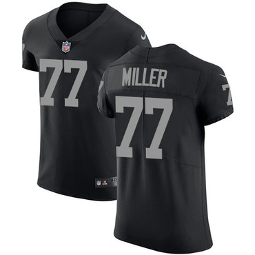 Nike Raiders #77 Kolton Miller Black Team Color Men's Stitched NFL Vapor Untouchable Elite Jersey