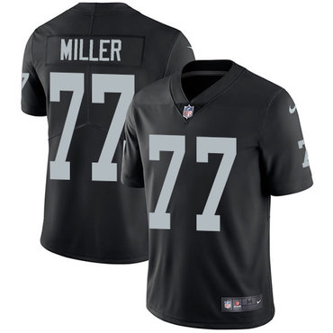 Nike Raiders #77 Kolton Miller Black Team Color Youth Stitched NFL Vapor Untouchable Limited Jersey