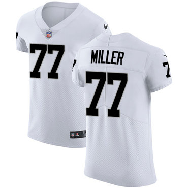 Nike Raiders #77 Kolton Miller White Men's Stitched NFL Vapor Untouchable Elite Jersey