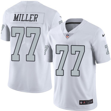 Nike Raiders #77 Kolton Miller White Youth Stitched NFL Limited Rush Jersey