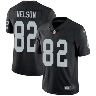 Nike Raiders #82 Jordy Nelson Black Team Color Youth Stitched NFL Vapor Untouchable Limited Jersey