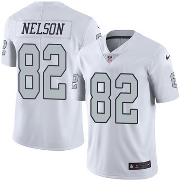 Nike Raiders #82 Jordy Nelson White Youth Stitched NFL Limited Rush Jersey