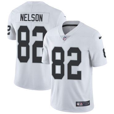 Nike Raiders #82 Jordy Nelson White Youth Stitched NFL Vapor Untouchable Limited Jersey
