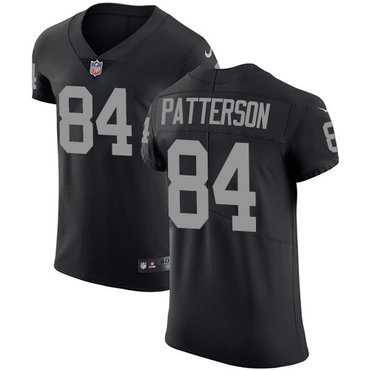 Nike Raiders #84 Cordarrelle Patterson Black Team Color Men's Stitched NFL Vapor Untouchable Elite Jersey