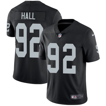 Nike Raiders #92 P.J. Hall Black Team Color Youth Stitched NFL Vapor Untouchable Limited Jersey