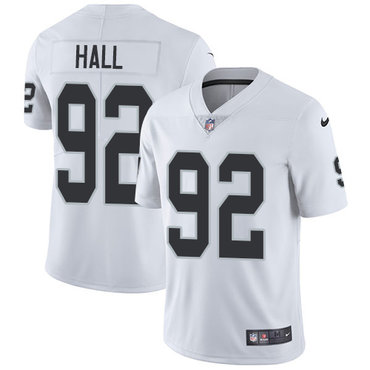 Nike Raiders #92 P.J. Hall White Youth Stitched NFL Vapor Untouchable Limited Jersey