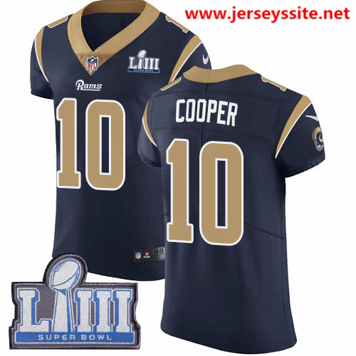 Nike Rams #10 Pharoh Cooper Navy Blue Team Color Super Bowl LIII Bound Men's Stitched NFL Vapor Untouchable Elite Jersey