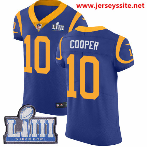 Nike Rams #10 Pharoh Cooper Royal Blue Alternate Super Bowl LIII Bound Men's Stitched NFL Vapor Untouchable Elite Jersey