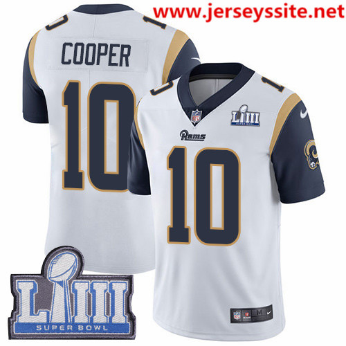 Nike Rams #10 Pharoh Cooper White Super Bowl LIII Bound Men's Stitched NFL Vapor Untouchable Limited Jersey